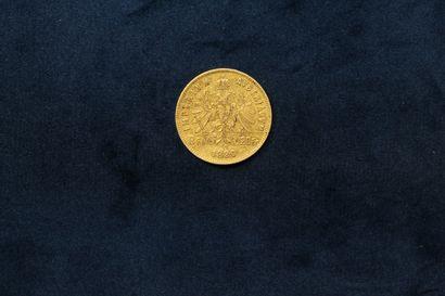 OB 20 francs or Franz Joseph I 1880  TTB.  Poids: 6.43 g.
