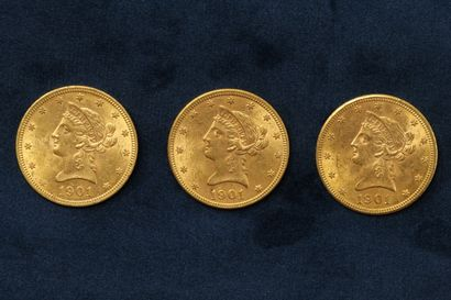 3 x $10 gold coins