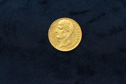 OB Pièce en or de 40 francs Bonaparte Premier...