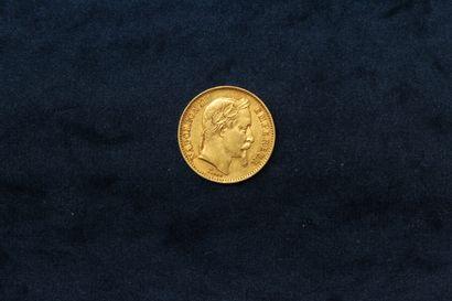 OB 20 francs or Napoléon III tête laurée...