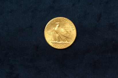"""1 gold coin of 10 dollars """"Indian Head Eagle"""" 1910  Weight : 16.71 g.  VG to TT..."""