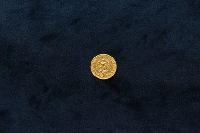 Gold 2 Pesos coin 1945 Mo.  TTB to SUP.  Weight : 1.63 g.