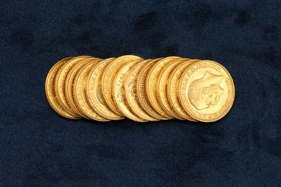 13 Souverains en or Georges V 1911 (C), 1911, 1912 (P), 1912, 1913 x 2, 1914 x 3,...