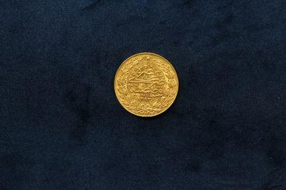 OB 100 Kurush gold coin - Abdülhamid II (1876-1909) Year 20.  TTB to SUP.  Weight...