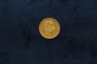 OB 20 francs or Franz Joseph I 1880  TTB....