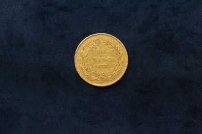 Gold coin of 40 francs Louis-Philippe Type Domard 1833 A (workshop Paris).  Obverse:...