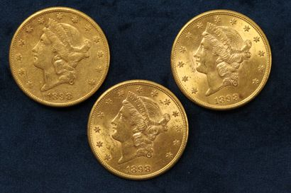 3 x $20 gold coins