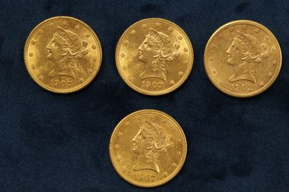 4 Gold 10 dollar