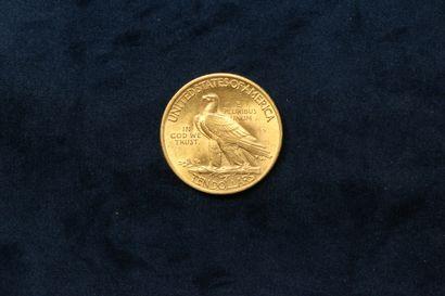 """Pièce de or 10 Dollars """"Indian Head Eagle"""" 1932.  TTB à SUP.  Poids : 16.72 g."""
