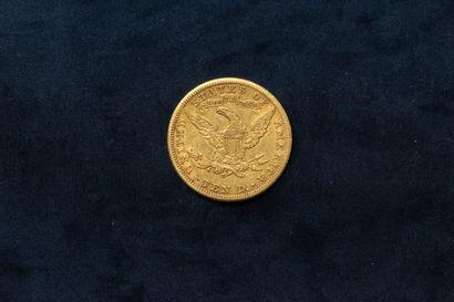 "10 dollar gold coin ""Coronet Head Eagle"" 1901 S.  VG to TTB.  Weight : 16.66 g."