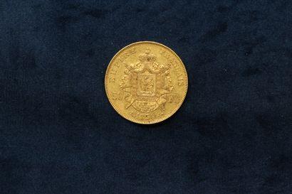 OB 50 francs or Napoléon III tête nue (1856 A)  TTB.  Poids : 16.07 g.
