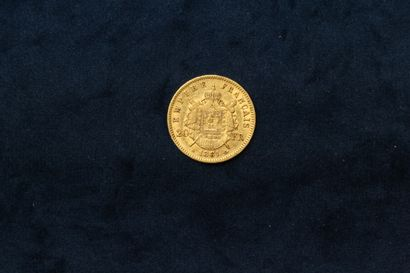 One gold coin of 20 francs Napoleon III Head Laurel (1861 A)  Weight : 6.45 g.  VG...