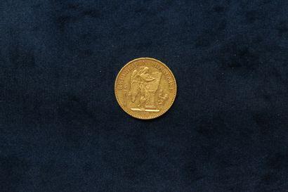 Pièce en or de 20 francs Génie 1878 A (atelier...