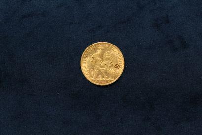 OB Pièce en or de 20 francs Coq 1905.  Poids : 6.45 g.  (Insculpée 10.7.54 sur le...