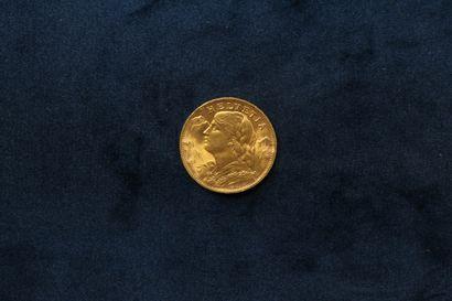 OB Pièce en or de 20 francs Vreneli. (1947...