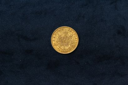 OB 20 francs gold Napoleon III head laurel 1866 BB  TTB.  Weight : 6.44 g.