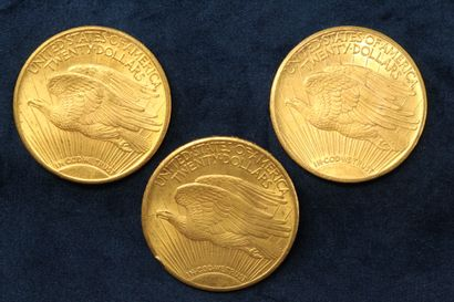 3 Gold $20 coins