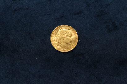 OB Pièce en or de 20 francs Coq 1905.  Poids...