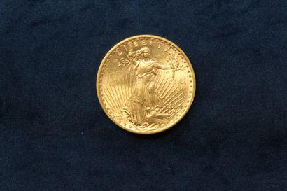 "1 pièce en or de 20 dollars ""Saint Gaudens double Eagle"" 1914 (San Francisco).  TB..."