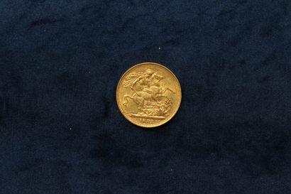 1 Souverain en or Victoria tête jubilée 1891 (S).  TTB à SUP.  Poids : 7.99g.