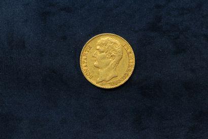 Pièce en or de 40 francs Bonaparte AN 12...