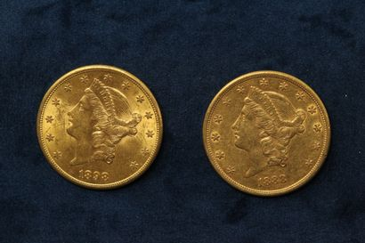2 gold coins of 20 dollars