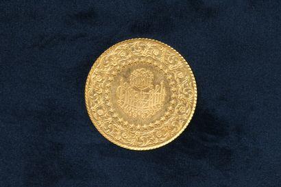 OB Pièce en or de 250 Kurus (Gold Bullion Coinage) 1962.  TTB à SUP.  Poids : 17.50...