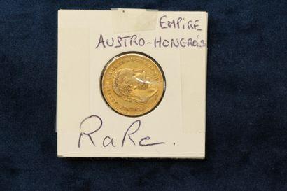 Pièce en or de 20 Francs ou 8 Forint François-Joseph...