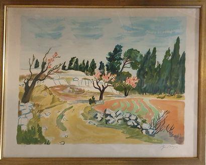 BRAYER Yves (1907-1990)  Paysage de provence...