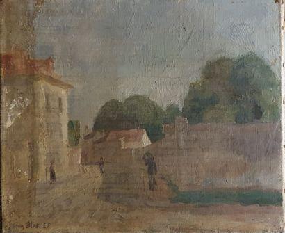 BLOT Jacques (1885-1960)  Rue de Village,...