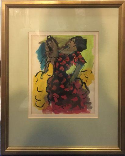 AMBROGIANI Pierre (1907-1985)  Flamenco,...