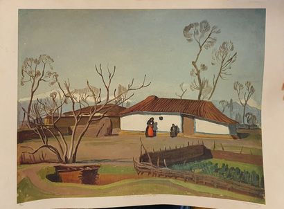 GIOLDASIS Dimitris (1897-1993)  Maison de...