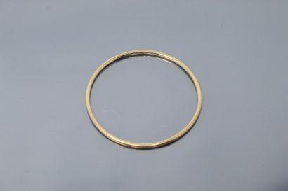 Bracelet jonc en or jaune 18k (750).  Diam....