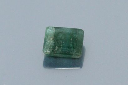 Emerald (root) rectangular with cut sides...