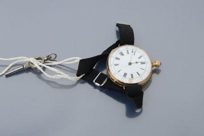 Montre de gousset montée en montre bracelet...