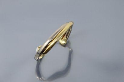 Bracelet rigide en or jaune et gris 18k (750)....