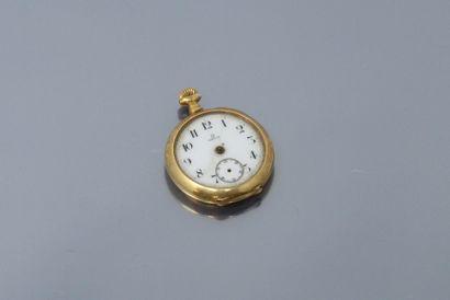 OMEGA  Débris de montre de col en or jaune...