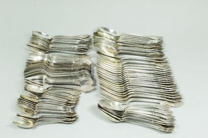 Ménagère en argent Minerve (925) modèle...