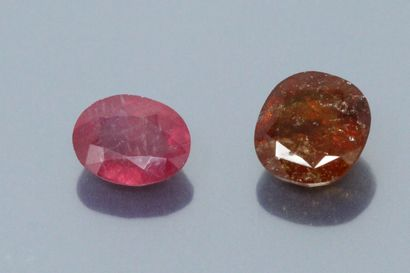 Lot of two stones on paper including :  -...