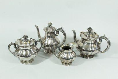 CHRISTOFLE  Service à thé et à café en métal...
