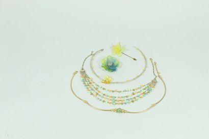 Lot de bijoux fantaises comprenant une épingle...