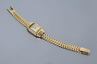 LIP  Montre bracelet de dame, boîtier carré...