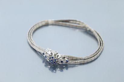 Bracelet en or gris 18K (750) et métal à...