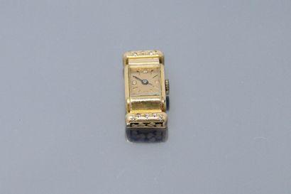 Boîtier de montre en or jaune 18k (750) sertie...