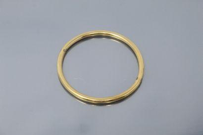 Bracelet jonc en or jaune 18k (750),