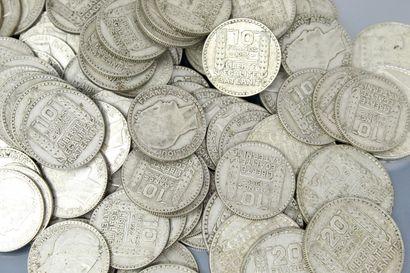 Ensemble de pièces en argent de francs Turin...