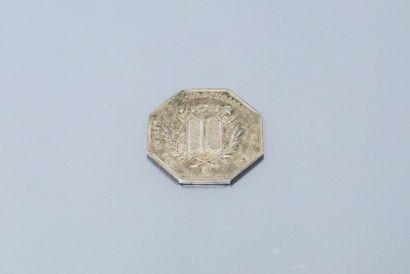 Jeton octogonal en argent des Notaires de...