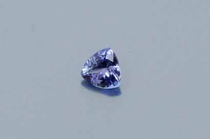Tanzanite trillion on paper.  Weight : 1.19...