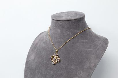 Croix de Jérusalem en or jaune 14k (585)...