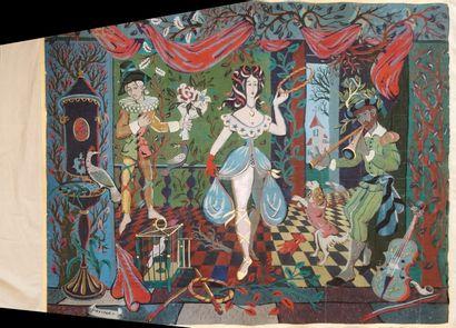 HÉTREAU Rémy (1913-2001)  Carton de tapisserie...